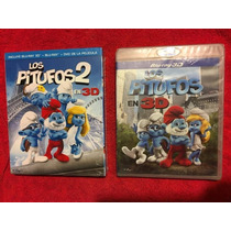 Los Pitufos 1 Y 2 Blu-ray 3d Tercera Dimension Remato