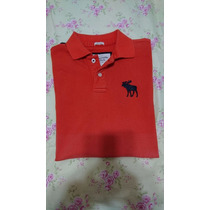 Camiseta Polo Abercrombie & Fitch Original Muscle Laranja