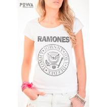 Remera Estampada Powa 100% Algodón Con Estampa Ramones
