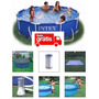 Piscina Intex 4485 L Filtro 110v Capa Forro Kit Limpeza