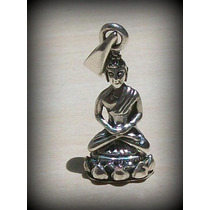 Pingente Buda Buddha The First - Prata 925 - 2,7 Gr