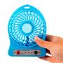 Mini Ventilador Portartil Usb Recargarble Con Luz Led Mdj