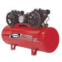 Compresor 20 Hp Trifasico 1000 L 175 Psi Marca Evans Oferta