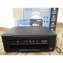 Impressora Multifuncional Epson Xp214 Com Bulk Ink 12x S/jur