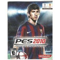Manual De Instrucoes Jogo Pes 2010 /play3 -completo