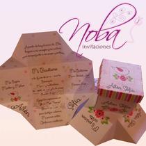Invitaciones Bautismo-cumples En Forma De Cajita - Prec X 20