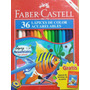 Creyones Faber Castell Acuarelables. 36 Colores. Y Manual