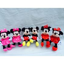 Minie Vermelha ,rosa Ou Mickey Pelúcia Kit Com 6