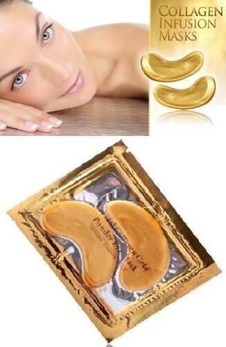 La máscara para los ojos de las bolsas en los ojos con la miel