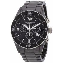 Relógio Emporio Armani Ar1421 Cerâmica Preto Original 12xs/j