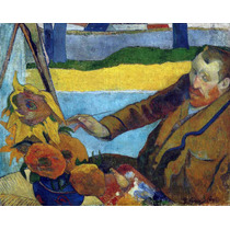 Lienzo Tela Vincent Van Gogh Paul Gauguin Girasol 50 X 65 Cm