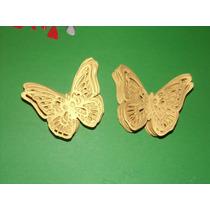 Mariposas Caladas/troqueladas Texturadas En Papel Y Goma Eva