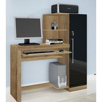 Escrivaninha, Mesa Para Computador - Marrom/preto