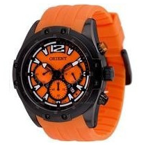 Relógio Masculino Orient Esportivo Puls. Laranja - Mpspc005