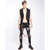 Pantalon Justo Tripp Is7797m Bondage Punk Rocker Gothic