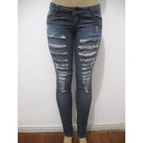 Calça Jeans Strutura Rasgada Navalhada Tam 38 Bom Estado