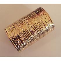 Bracelete Dourado Grande Moda Egípcia