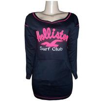 Vestido Moletom Hollister Preto Surf