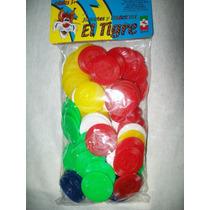 Gcg Lote De Fichas Colores Para Juegos El Tigre 100 Pzas