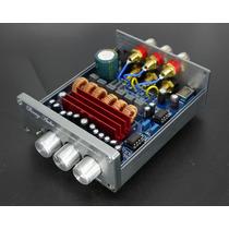 Kit Placa Amplificador 2.1 C/ Caixa 200w Rms 50w+50w+100w