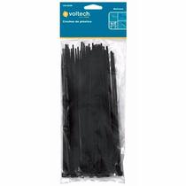 25 Cinchos De Plastico Negros De 40 Cm 50 Lb Voltech 44330