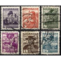 2538 Austria En Serie Campesinos 6 Sellos Usados 1934-35