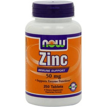 Now Foods Gluconato De Zinc De 50 Mg Comprimidos De 250 Hilo
