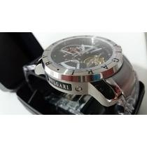 Relógio Iron Man Preto Prata Pronta Entrega 12x Automatico