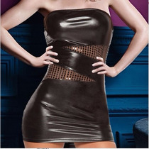 Sexy Vestido Strapless Negro + Colaless, Hot Erotico