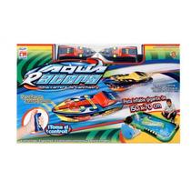 Lancha De Controle Remoto Aqua Racers Deluxe Frete Grátis