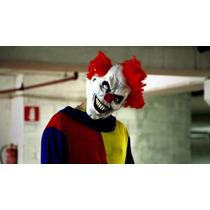 Fantasia Palhaço Assassino Terror Mascara Roupa Pronta Entre