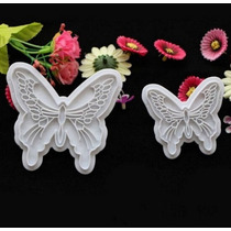 Moldes Cortantes Mariposa Fondant Reposteria Tortas Cupcake