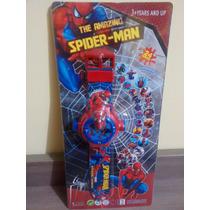 Relógio Homem Aranha Com Projetor De Imagens