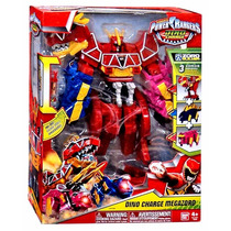 Boneco Power Ranger Dino Charger Megazord 30cm Bandai