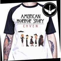 Camiseta Raglan American Horror Story Coven Ou Baby Look Ahs