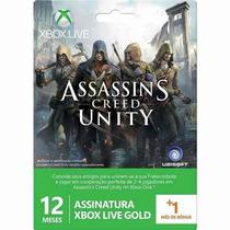 Xbox Live Gold Brasil Cartão 12 Meses + 1 Mês 25 Dígitos