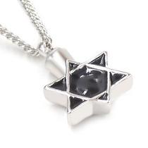 Collar Estrella Urna Memorial Cremación Relicario De Cenizas