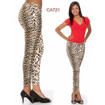 Animal Print Oncinha Resinada Wpink Tem Calças Hot Pants 746