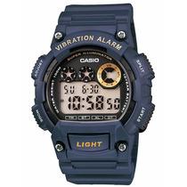 Reloj Casio W-735h-2avdf 46mm Alarma 100m Acuático Luz Led