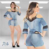 Macaquinho Jeans Rhero Original Estilo Pitbull