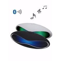 Caixinha De Som Com Bluetooth E Led - Recarregável