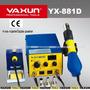 Estação De Solda 2 Em 1 E Soprador Ar Quente Yaxun 881d 220v