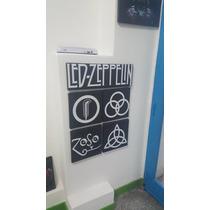 Cuadro Poliptico Firmas Led Zeppelin 85x65cm Somos Local!