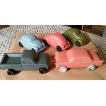 Kit 10 Fusquinhas De Plástico Carrinhos Antigos Caminhonetas