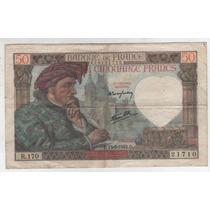 Billete Francia 50 Francos 1942 Pick 93 Mb