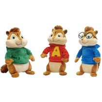 Pelucia Alvin E Os Esquilos 3 Original Bbr - Pack C/3 Menino