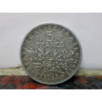 5 Francos 1963 Plata Francia
