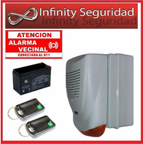 Alarma Barrial Vecinal Comunitaria Ups Bateria Largo Alcance