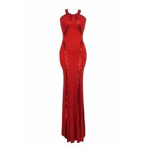 Sexy Elegante Vestido Largo Noche Fiesta Brillo 60589