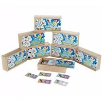 Brinquedos Educativos Kit De Dominó Alfabetização Carlu 1134